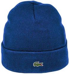 Мужская шапка Lacoste (ориг.бирка) синяя