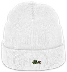 Мужская шапка Lacoste (ориг.бирка) белая