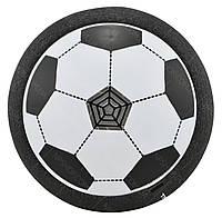 Футбольный мяч футболайзер для дома с подсветкой и музыкой Hoverball черный, фото 1