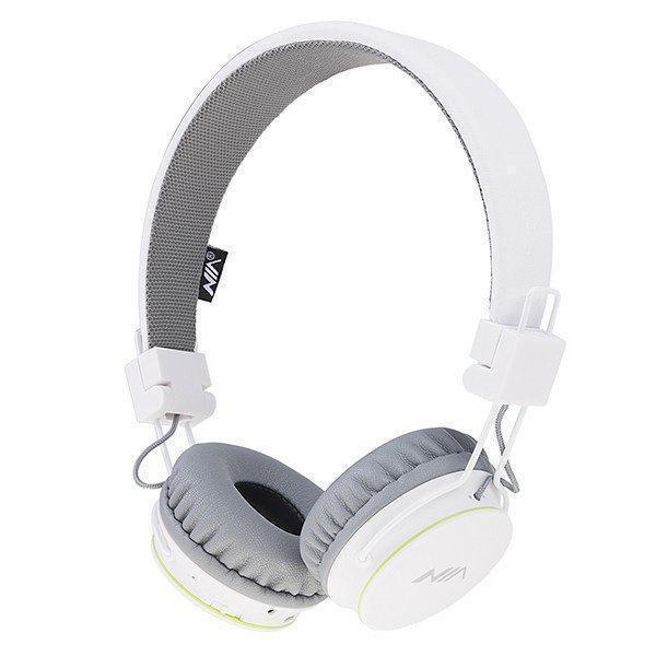 Беспроводные Bluetooth стерео наушники NIA X2 с МР3 и FM White