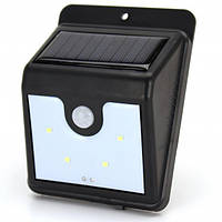 Светильник Ever Brite с датчиком движения и солнечной панелью 4 smd настенный уличный, фото 1