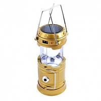 Кемпинговая LED лампа CL-5800T c power bank Gold