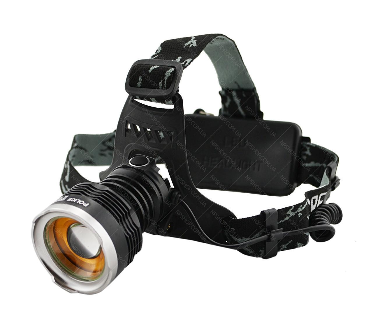 Налобний ліхтарик Police BL - T619 (2 зарядні, 2 акумулятора)