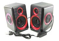 Колонки для ПК компьютера F&T FT-165 красные, фото 1