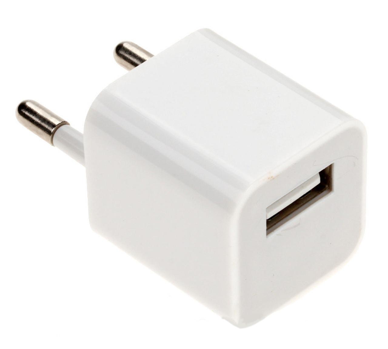 Блок питания типа iPhone 5v 1A USB адаптер (кубик)