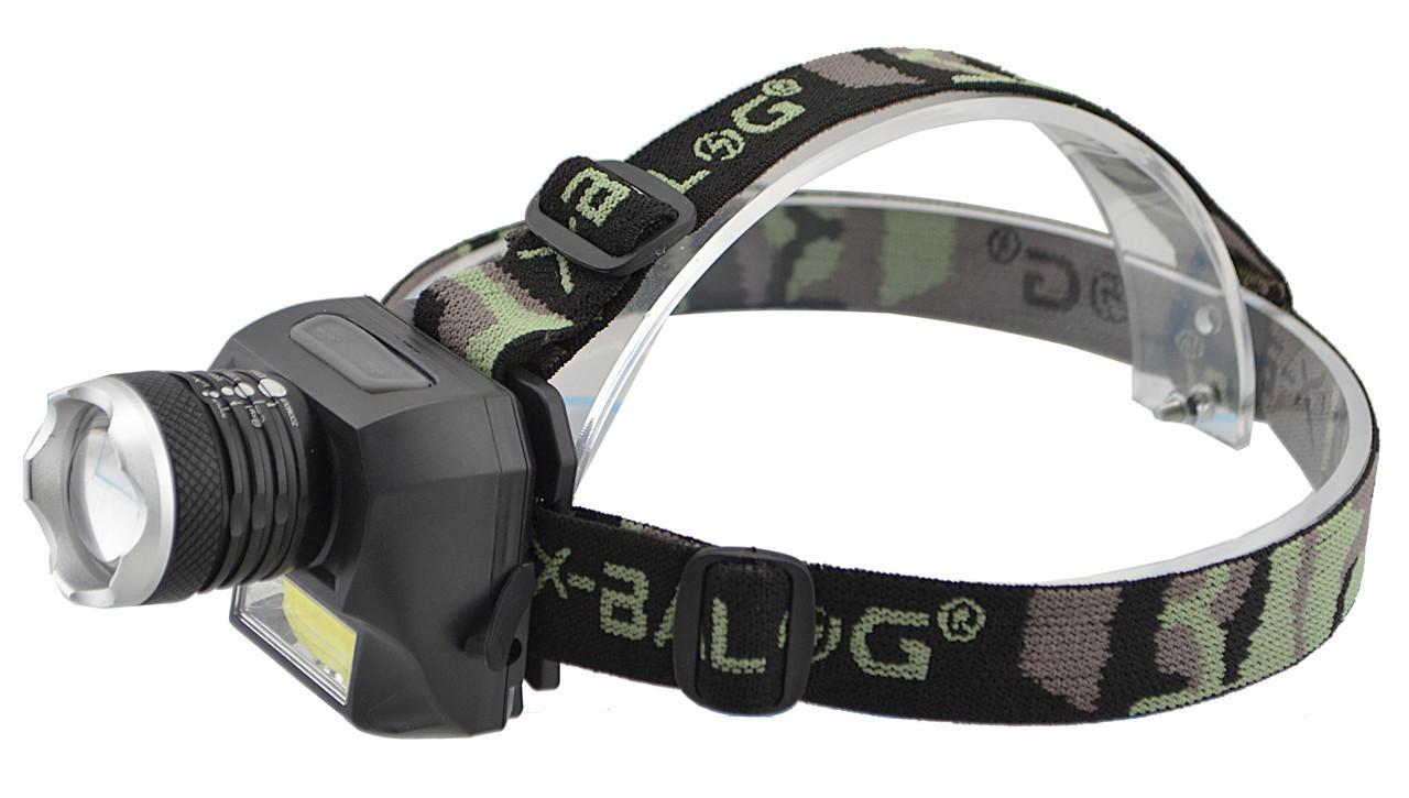Налобный фонарик Police BL-6919 + COB панель