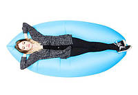 Надувной шезлонг диван мешок Ламзак Lamzac голубой, фото 1
