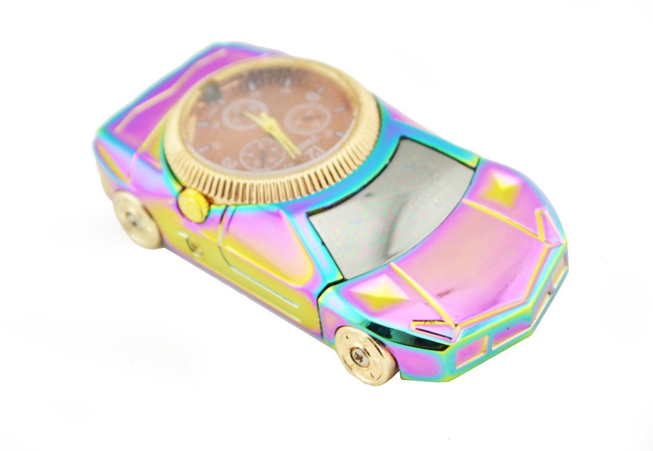 USB электрическая зажигалка спиральная Jinlun 813 с часами