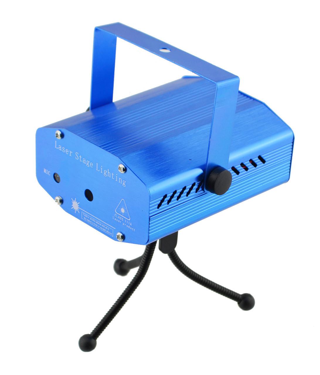 Лазерный проектор, стробоскоп, диско лазер UKC HJ08 4 в 1 c триногой