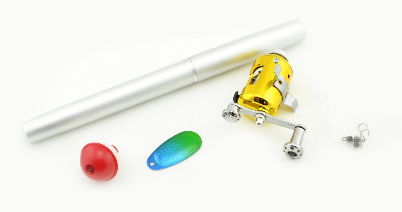 Складная походная мини-удочка + катушка, ручка Silver