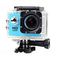 Водонепроницаемая спортивная экшн камера Delta HD 1080P X6000 Blue, фото 1