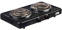 Настольная электроплита Domotec MS-5532 Black (большая спираль)
