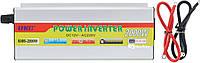 Преобразователь напряжения(инвертор) 12-220V UKC KHM-2000W Silver + USB (5279)