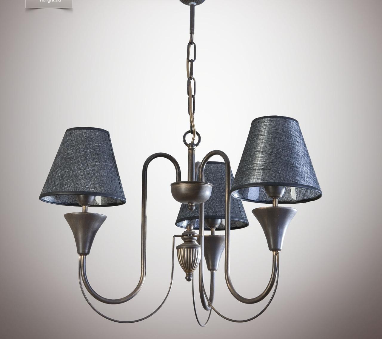 Люстра для небольшой комнаты, спальни, прихожей, 3-х ламповая  14403-2