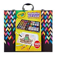 Крайола  Crayola  Inspiration Art Case Zigzag Большой набор для творчества 140 предметов