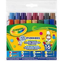 Фломастеры 16цв. Crayola мини, с оригинальными наконечниками Рисуем узоры 58-8709
