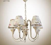 Люстра для зала, спальни, прихожей, 5-ти ламповая
