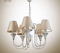 Люстра для зала, спальни, прихожей, 5-ти ламповая 14405-4