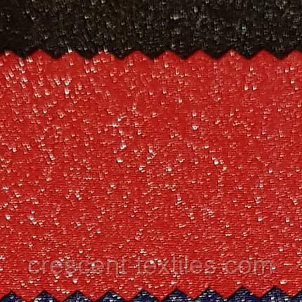 Креп-Костюмка Люрексам (Красный), фото 2