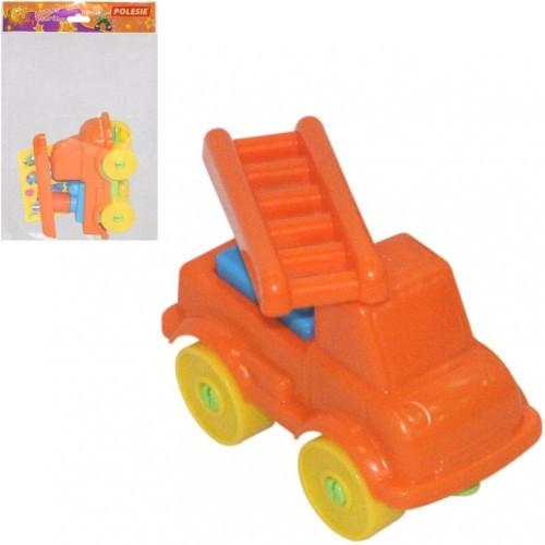 Конструктор Юний мандрівник -Автомобіль пожежний (8 елементів) (в пакеті) 12*6*10см ТМ POLESIІ