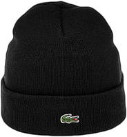 Мужская шапка Lacoste (ориг.бирка) черная