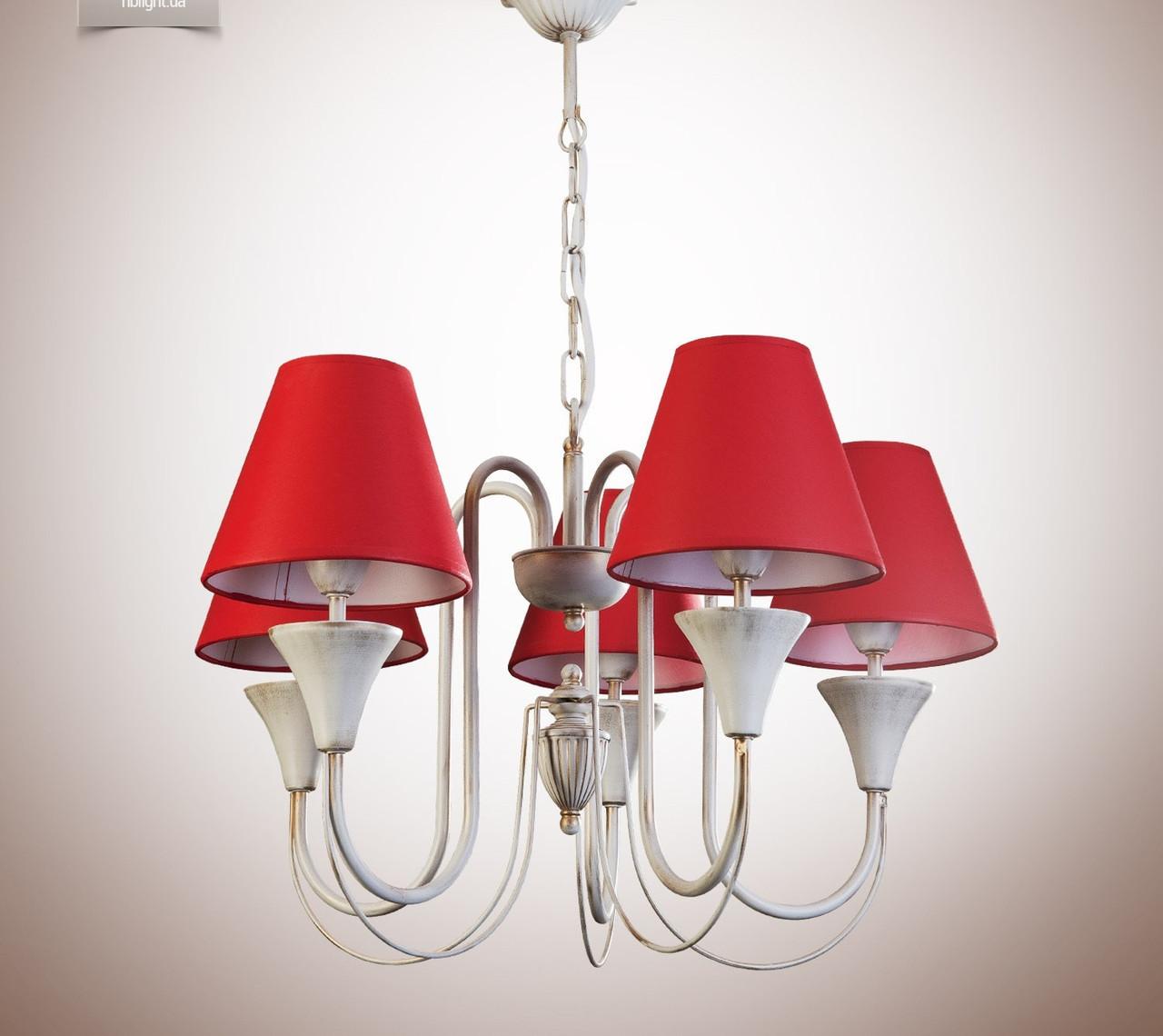 Люстра для залу, спальні, передпокої, 5-ти лампова 14405-6