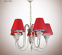 Люстра для зала, спальни, прихожей, 5-ти ламповая 14405-6
