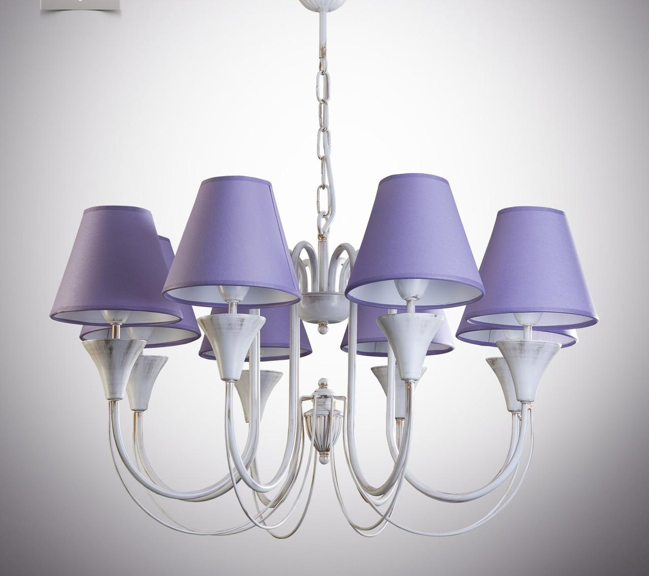 Люстра для большой комнаты, спальни, 8-ти ламповая 14408