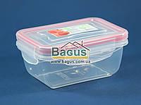 Емкость (судок) пищевая 0,4л 13,3х9,8х6,1см пластиковая (крышка с зажимами) Fresh Box Прямоугольный Ал-Пластик