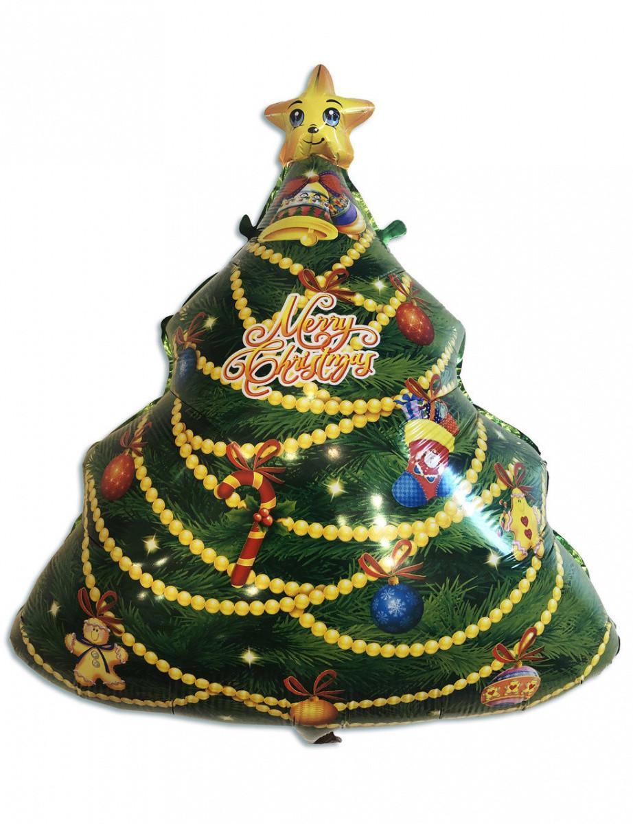 Фольгированный шар Новогодняя ёлка 60*50 см