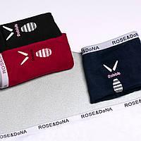Трусики - слипы ROSE&DONA хлопок с надписью на резинке и принтом, фото 1