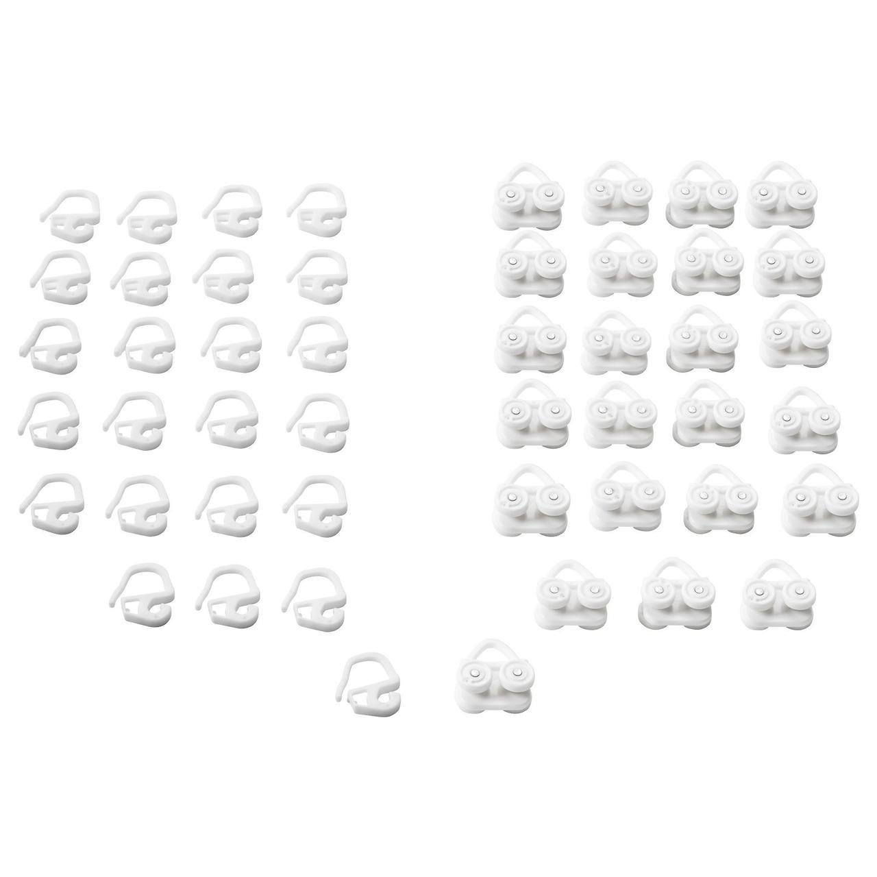 Гачки с бегунами IKEA VIDGA 24 шт белый  702.607.68