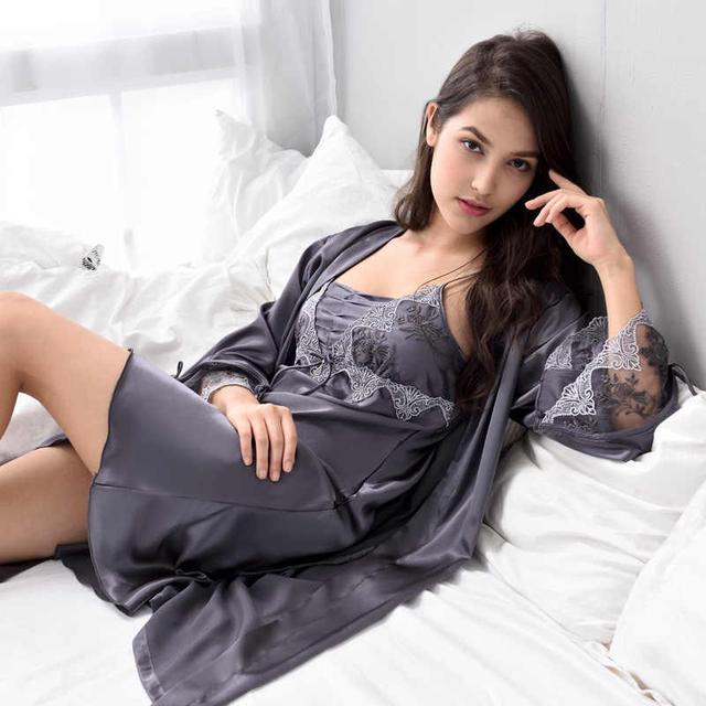 шелковая домашняя одежда
