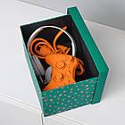 Коробка с крышкой IKEA TJENA 18x25x15 см зеленый точечный 304.340.54, фото 4