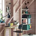 Коробка с крышкой IKEA TJENA 18x25x15 см зеленый точечный 304.340.54, фото 6