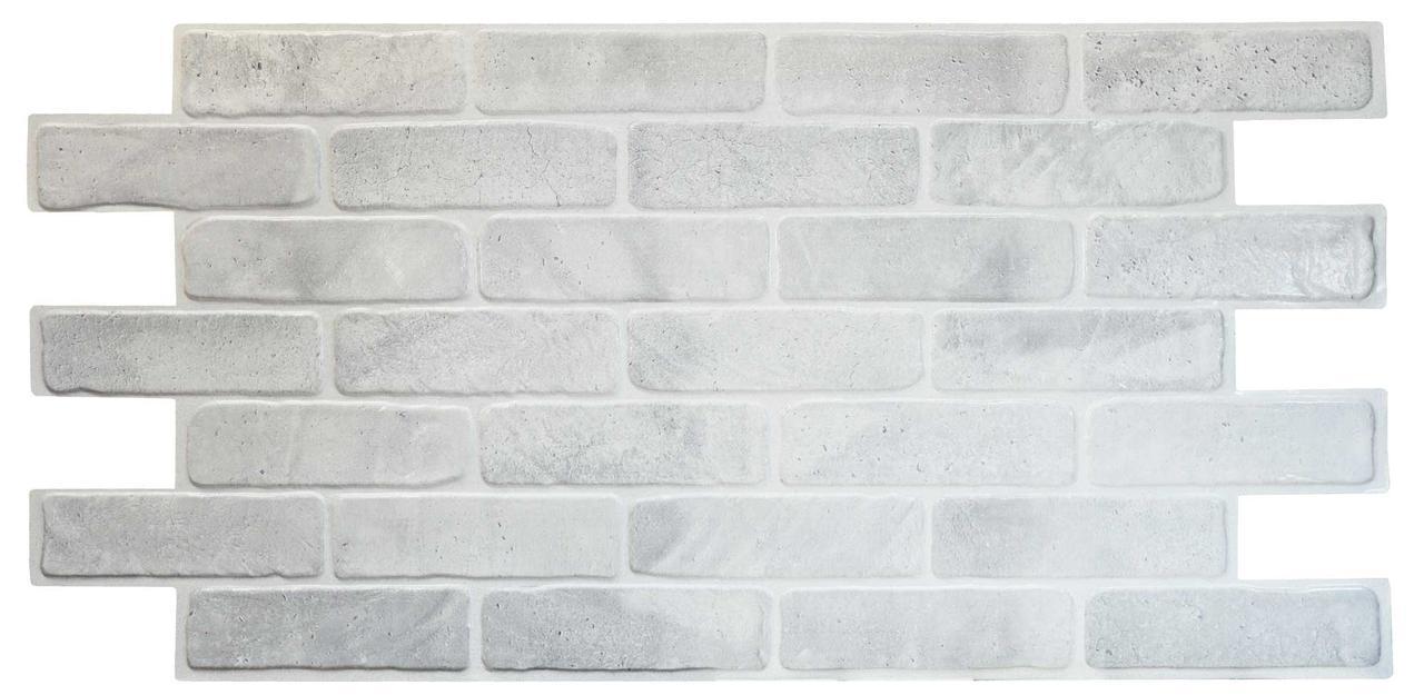Панели ПВХ Grace Кирпич старый серый 1025*495мм