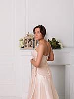 Свадебное платье из розовой органзы с вышивкой, фото 2
