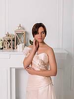 Свадебное платье из розовой органзы с вышивкой, фото 3