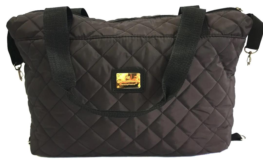 Стеганая зимняя женская сумка коричневая BR-S 1101151227