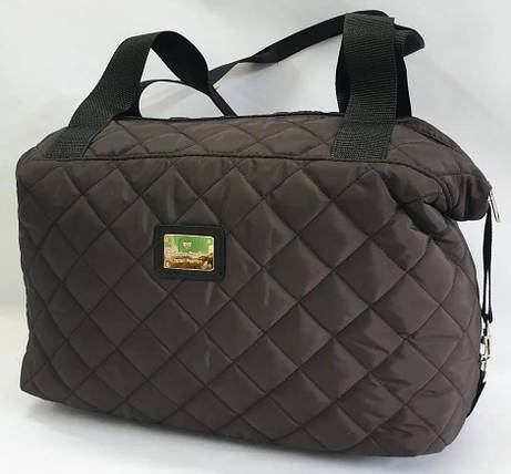 Стеганая зимняя женская сумка коричневая BR-S 1101151227, фото 2