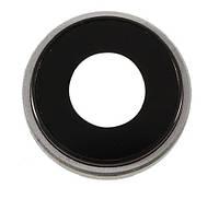 Стекло камеры для Apple iPhone XR + кольцо (Серое)