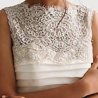 Свадебное платье со складками кружевом и пышной юбкой, фото 2