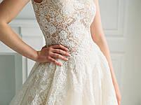 Свадебное платье с кружевом и пышной юбкой из органзы, фото 5