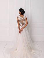 Классическое свадебное платье с кружевом и вышивкой бисером, фото 2