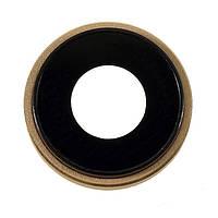 Стекло камеры для Apple iPhone XR + кольцо (Золотое)