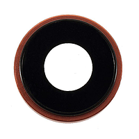 Стекло камеры для Apple iPhone XR + кольцо (Коралловое)