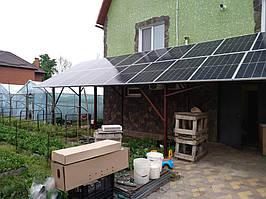 Сетевая солнечная электростанция 33,39кВт г. ВасильковКиевская область 1