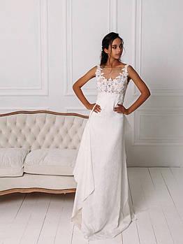 Свадебное платье с вышитым кружевом из жаккарда