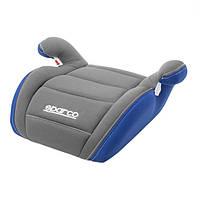 Детское автокресло бустер Sparco F100K BOOSTER 15-36kg grey/blue, фото 1