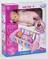 Пупс с кроваткой Warm Baby WZJ 018-1-2